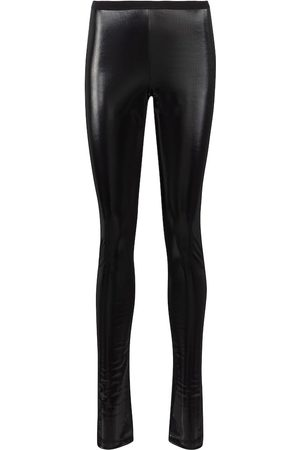 Rick Owens Women Leggings - Lilies coated stretch-cotton leggings