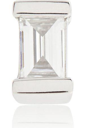 Maria Tash Diamond Baguette 14kt white gold earring