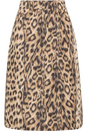 Victoria Beckham Leopard-print taffeta skirt