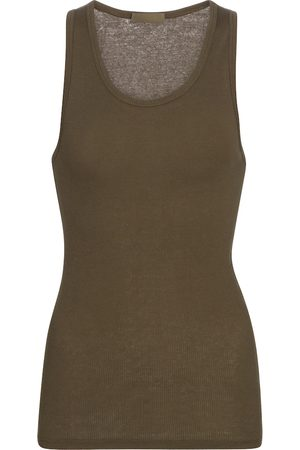 WARDROBE.NYC Ribbed-knit cotton tank top