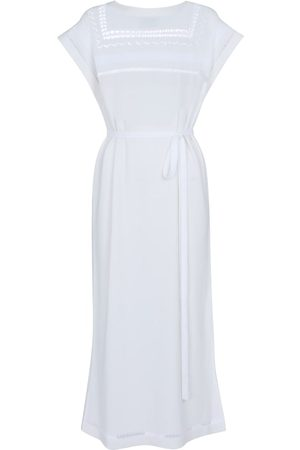 Barrie Crochet cashmere and cotton midi dress