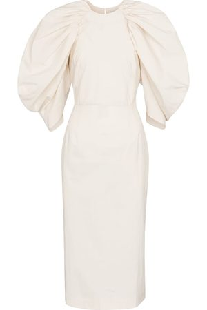 Deveaux New York Sasha cotton poplin midi dress