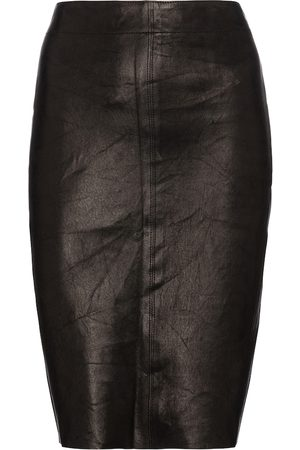 J Brand Novah high-rise leather pencil skirt