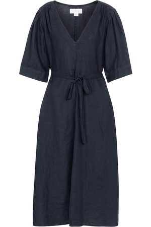 Velvet Laurel linen midi dress