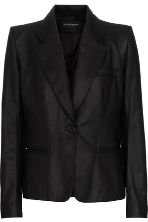 ANN DEMEULEMEESTER Women Blazers - Single-breasted leather blazer