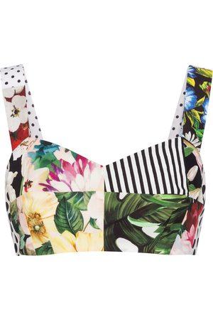 Dolce & Gabbana Women Corsets - Patchwork cotton bustier