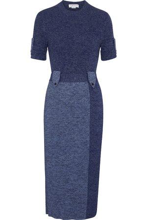 Victoria Beckham Ribbed-knit midi dress