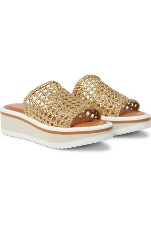 Robert Clergerie Women Sandals - Exclusive to Mytheresa – Fausta woven leather platform sandals
