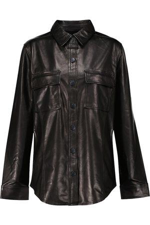 J Brand Leather shirt jacket