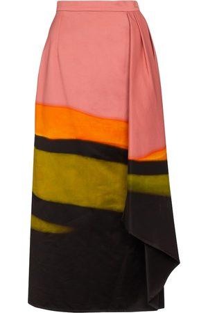 DRIES VAN NOTEN Printed cotton midi skirt