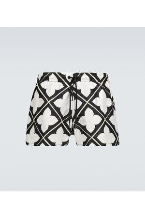 COMMAS Tile printed swim shorts