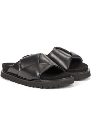 Moncler Women Sandals - Fantine leather slides