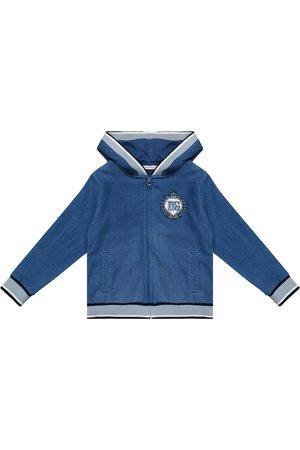 Dolce & Gabbana Denim jersey hoodie