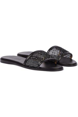 Jimmy Choo Women Sandals - Minea embellished leather slides