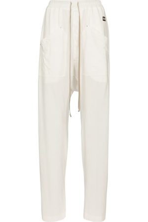 Rick Owens Women Cargo Pants - DRKSHDW cotton cargo sweatpants