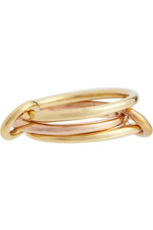 SPINELLI KILCOLLIN Solarium 18kt yellow and rose linked rings