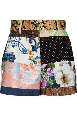 Dolce & Gabbana Patchwork jacquard shorts