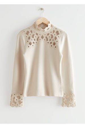 & OTHER STORIES Fitted Lace-Trim Top