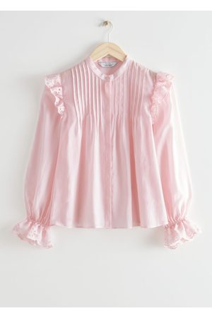 & OTHER STORIES Women Blouses - Wide Embroidered Ruffle Blouse