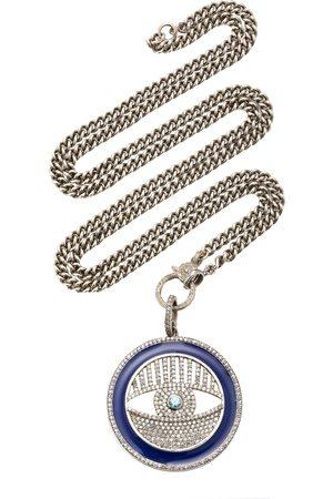 SHERYL LOWE Women's Sterling Silver; Enamel and Diamond Necklace - - Moda Operandi