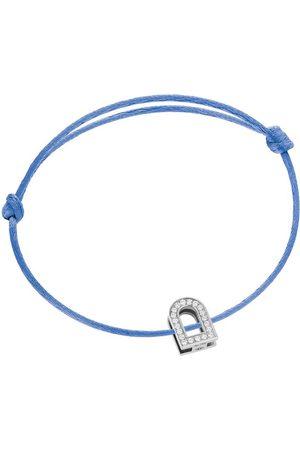 DAVIDOR Women's L'Arc Voyage 18K White Gold; Diamond and Silk Cord Bracelet - - Moda Operandi