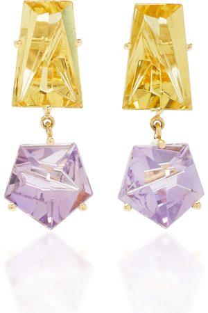 MISUI Women's 18K Gold; Amethyst and Beryl Earrings - - Moda Operandi
