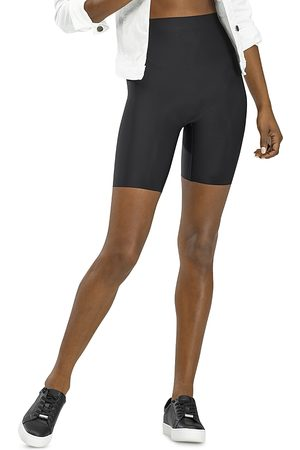 HUE Faux Leather High Rise Bike Shorts