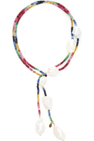 Joie DiGiovanni Women's Gold-Filled Ruby; Emerald and Sapphire and Pearl Necklace - - Moda Operandi