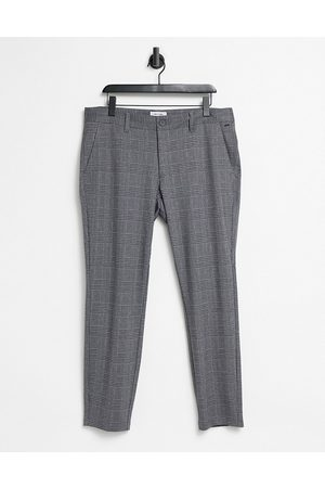 Only & Sons Pants in slim fit gray plaid