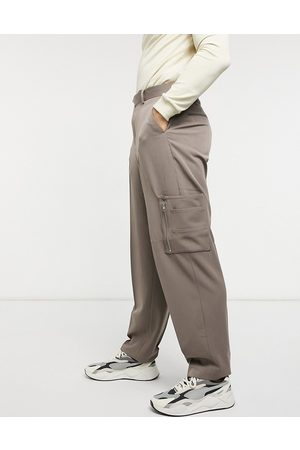 ASOS High waist slim smart pant with cargo pocket in