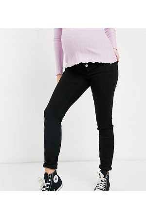 Pieces Maternity Skinny jeans with bump band in