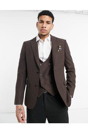 Harry Brown Wedding wool mix slim fit suit jacket