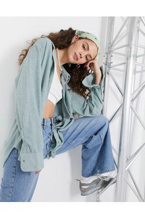 Weekday Edyn terrycloth shirt in