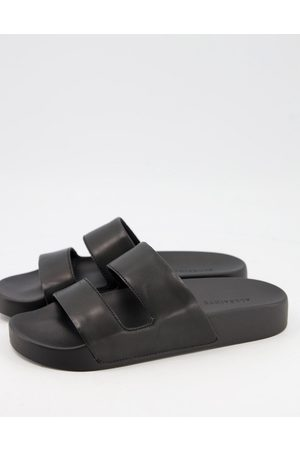 AllSaints Duo pool slides in leather