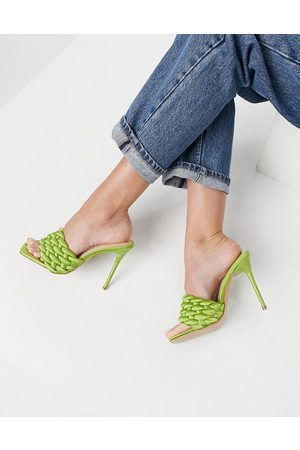 SIMMI Shoes Simmi London Brandy woven mules in olive