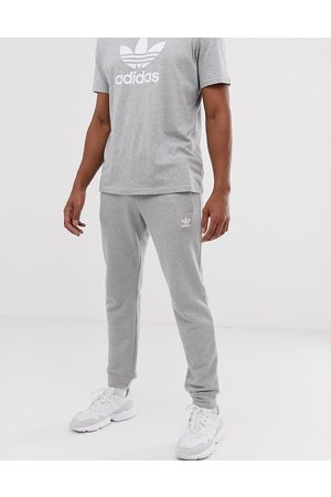 adidas Essential sweatpants in heather with small logo-Grey