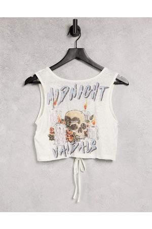Twiin Reversible beach tank top with ruching detail in