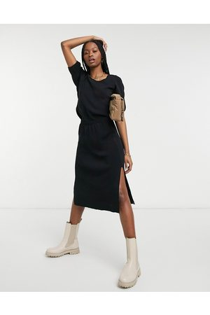 Y.A.S Knitted midi skirt with side slit in - part of a set