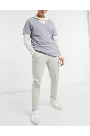 SELECTED Straight chinos in -Neutral