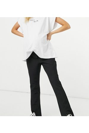 Pieces Maternity Slit front pants in