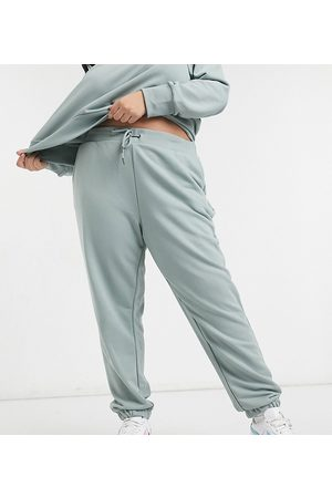 Noisy May Matching oversized sweatpants in sage green-Grey