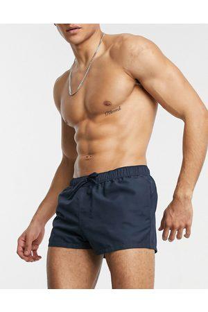 ASOS Swim shorts in super short length in navy