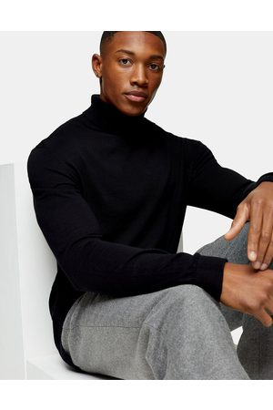 Topman Essential roll neck knitted sweater in
