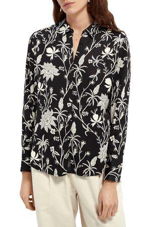 Scotch&Soda Women's Floral Button-Up Shirt