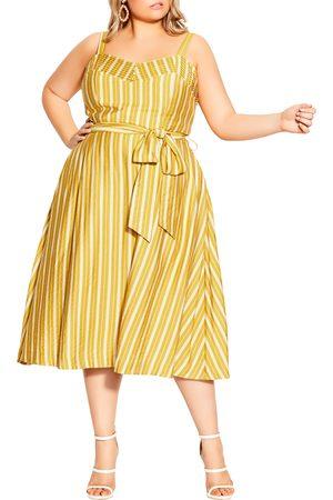 City Chic Plus Size Women's Stripe Sundress