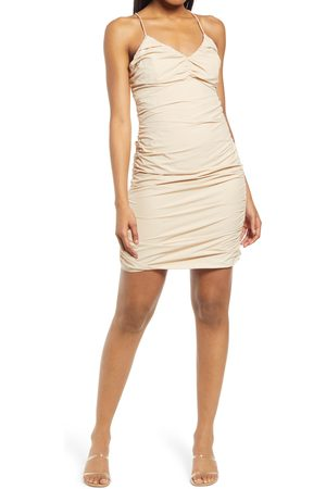 4th & Reckless Women's Rogue Ruched Strappy Back Minidress