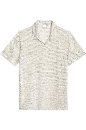 ONIA Men Polo Shirts - Men's Men's Shaun Stripe Linen Polo