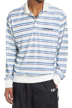 NOON GOONS Men's Men's Ventura Stripe Velour Long Sleeve Polo