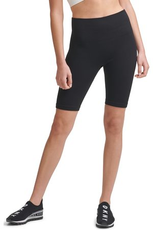DKNY SPORT Women's High Waist Seamless Rib Bike Shorts