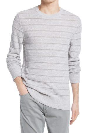 BILLY REID Men's Stripe Cotton & Linen Sweater